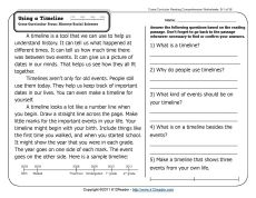 Printables Free Comprehension Worksheets For Grade 3 1000 images about reading comprehension on pinterest 3rd grade comp worksheets week 1 a passage and questions using timelines to help understand hist