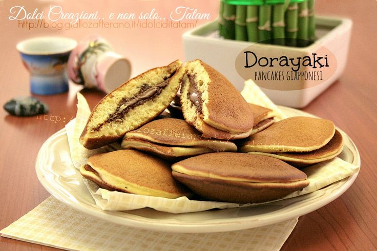 Dorayaki pancakes giapponesi alla Nutella - senza lievito