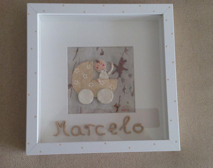 Cuadros para beb s con nombre personalizados y hechos a mano 30 cocorotacocorota - Cuadros originales hechos a mano ...