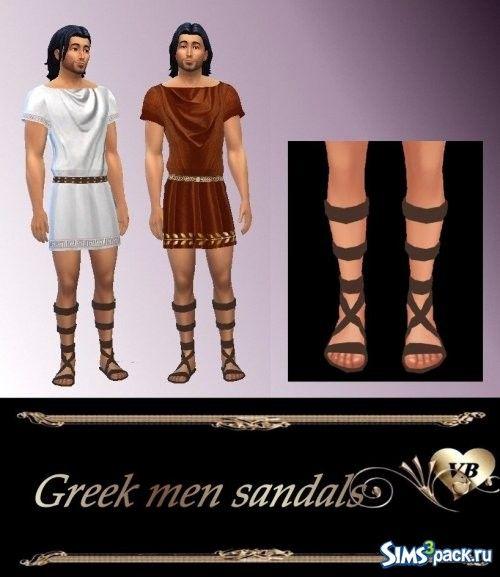 TS4 Греческие мужские сандалии.
