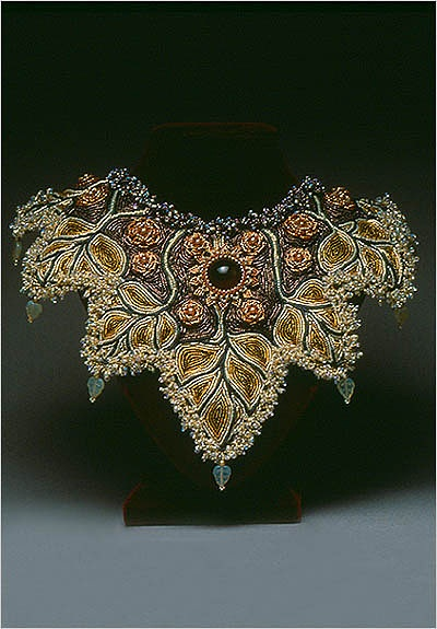 Laura Macabe - so gifted. I miss doing beadwork. . .Maybe this winter.