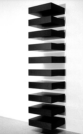 "black version of Donald Judd's ""boxes"". would love to have this in my all white house!"