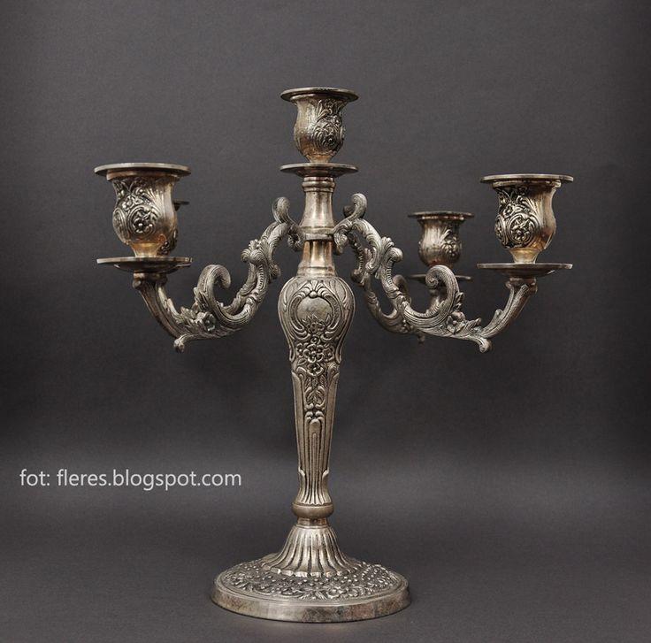 Galeria Fleres. Meble antyczne, srebra, porcelana.: Kandelabr