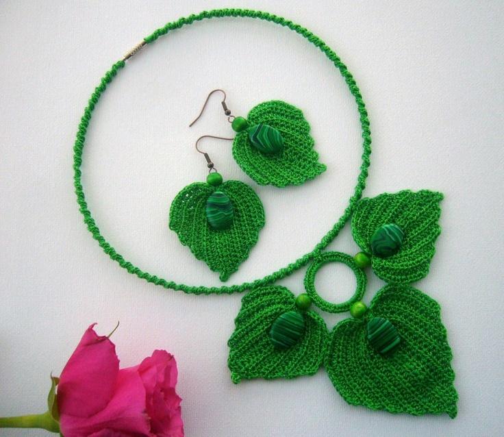 Green leaves set  http://www.etsy.com/shop/CraftsbySigita?ref=si_shop