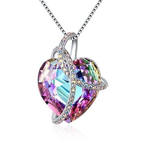 Mothers Day Gifts Gift For Mother Mom Necklace Pendant Unique Purple Crystal NEW #Kbrand
