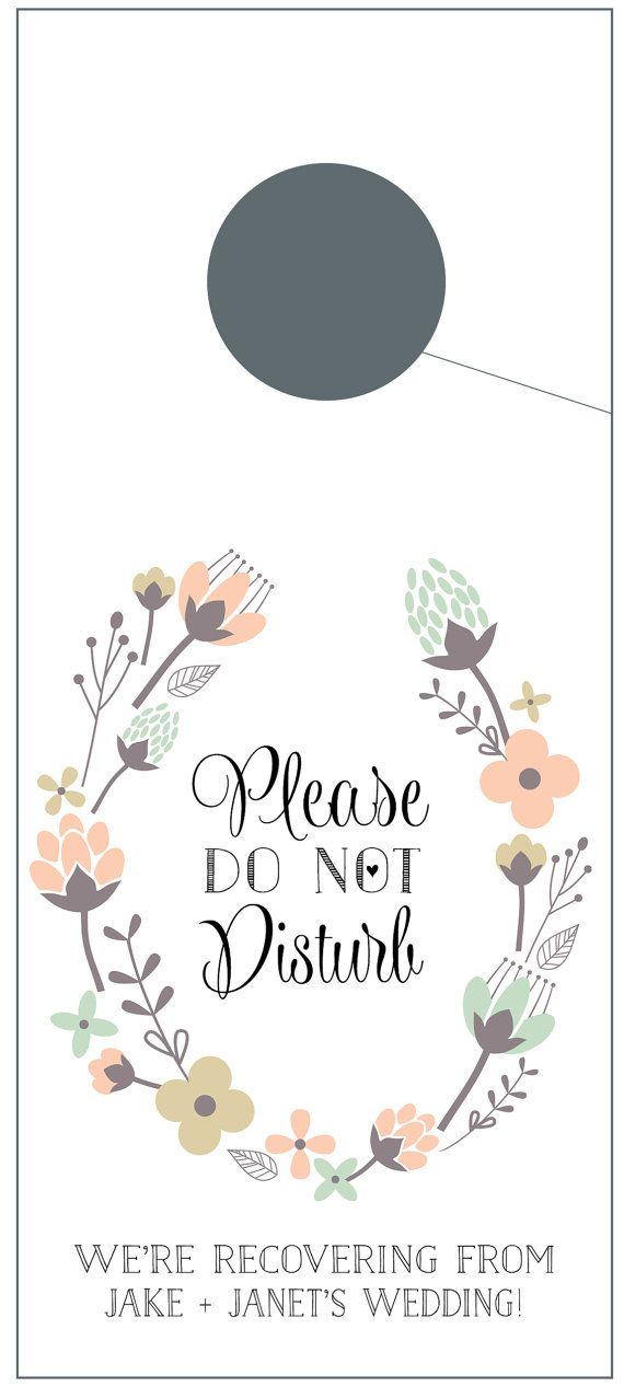 This set of ten (10) door hangers featuring vintage flowers is perfect for out of town guests attending your wedding! Just include these in