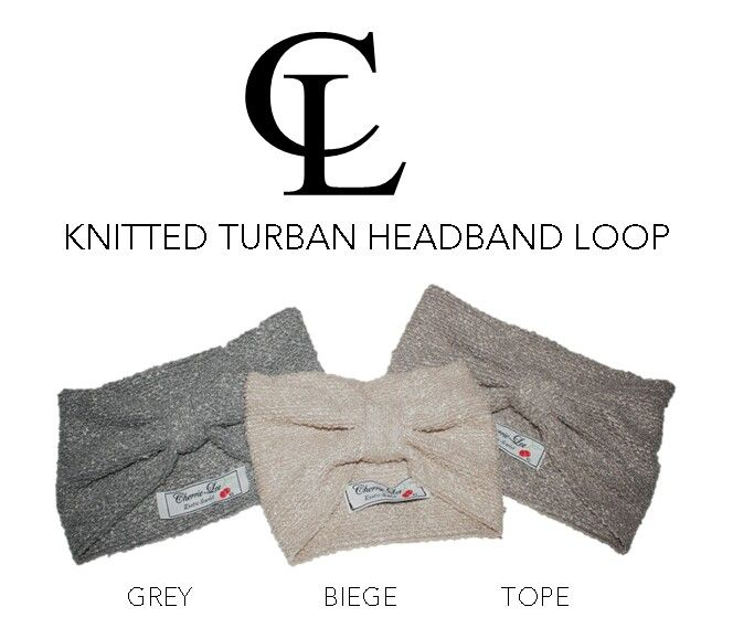 CL Chunky Knitted Loop Turban headband #CL #ChunckyKnitted #Turbanband