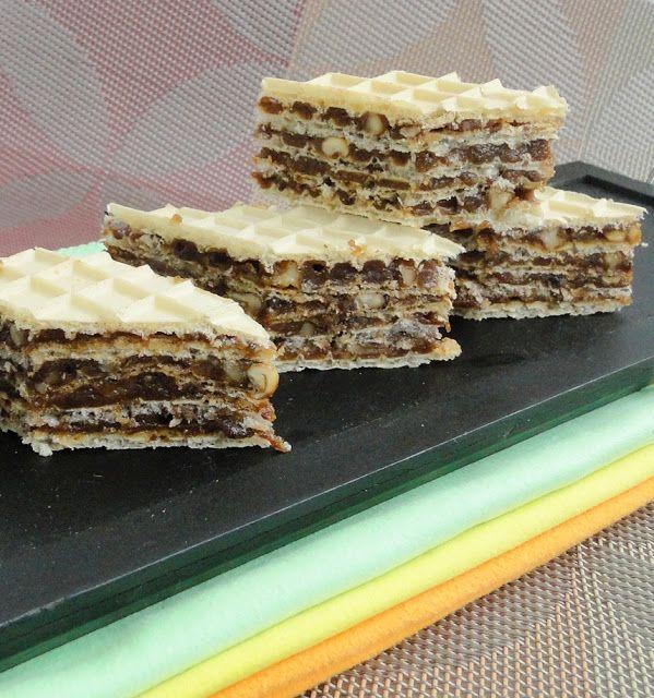 Prajitura cu foi de napolitana (Wafer cookie sheets)