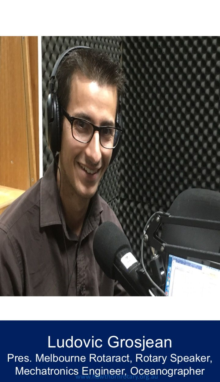 President Rotaract Melbourne Ludovic Grosjean: Mechatronic Engineer, Oceanographer, Rotary Speaker was a guest on Rotary In Action 96.5Inner FM
