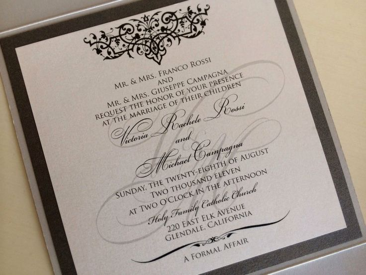 Formal Wedding Invitation Templates: Best 25+ Wedding Invitation Wording Ideas On Pinterest