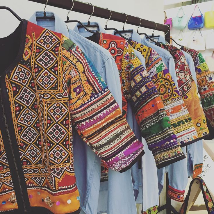 #day2 @pulse_london #pulse2016 ☀️ visit us for a boost of colour at stand B58🌴#jackets #anjuna #embroidered #handmade #boho #embroidery #shirts #denim