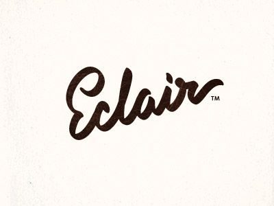 Eclair - Typography (by Paul Saksin). #Hand #Written #Calligraphy #Design FOLLOW A FELLOW