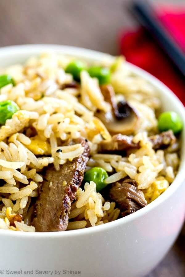 This steak fried rice is a delicious way to use leftover steak and rice for a new and exciting meal. Leftovers never tasted this good!