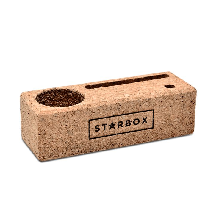 CORK DESK TIDY:  Everything in it's right place.
