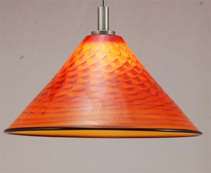 BLOWN GLASS PENDANT LAMP   Pendant Light Hand Blown Glass Mini Cone Orange Tapa by Artist & 18 best kitchen lighting dreams images on Pinterest   Kitchen ... azcodes.com