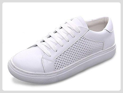Diamant durchbrochene Spitze weiße Schuhe Frauen Schuhe ein Pedal mit schweren Boden Aufzug Schuhen Frauen Schuhe Damen Herbst , white , US5.5 / EU35 / UK3.5 / CN35 - Sneakers für frauen (*Partner-Link)