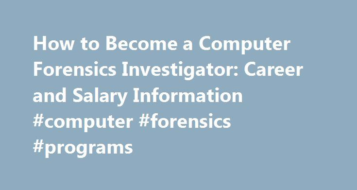the computer forensics investigator career essay This free computer science essay on essay: computer forensics is perfect for computer science students to use as an example.