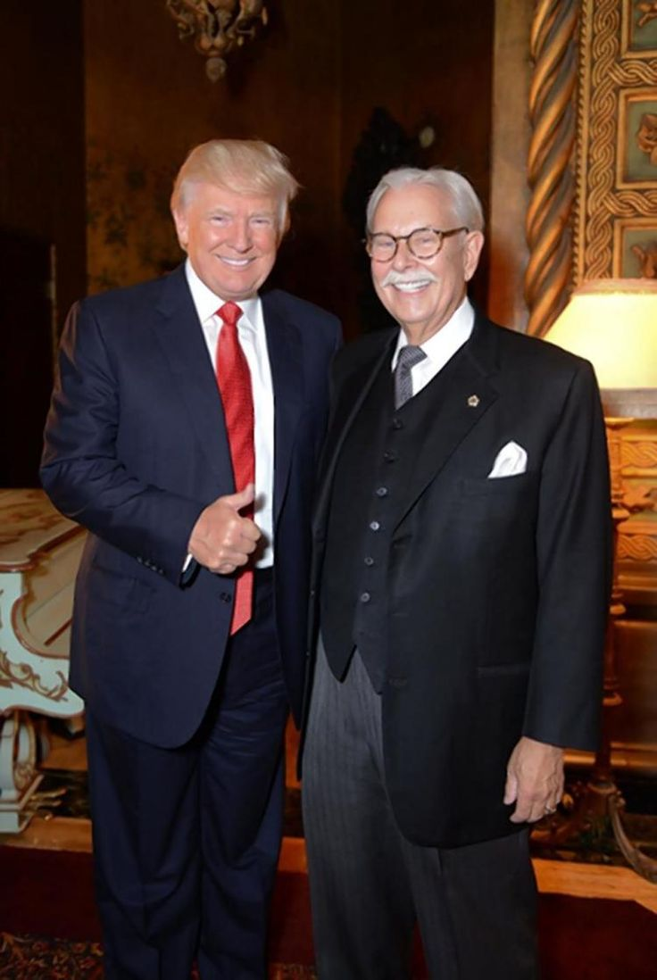Anthony Senecal with his employer and presumptive GOP presidential nominee Donald Trump.