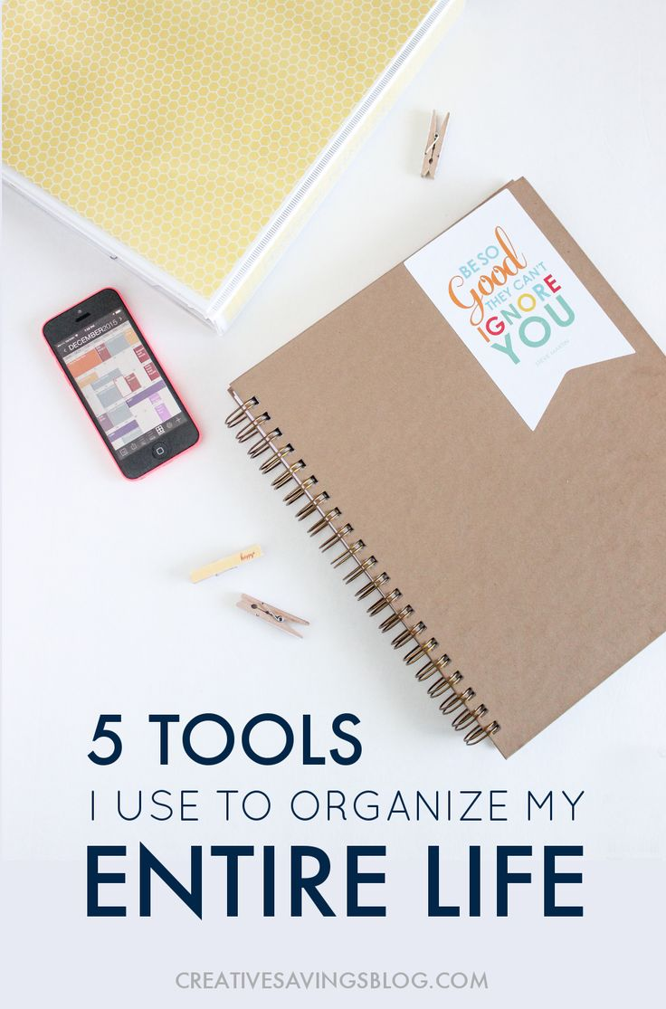 What if I told you the only thing standing between everyday chaos and a streamlined, well-organized life are FIVE organizational tools? Here's how to set attainable goals, stay on top of your to-do's, come in under budget, and keep your life on track and running smoothly. You'll never feel overwhelmed again!