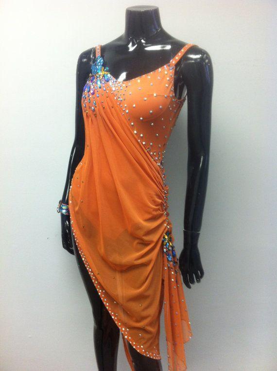 Danza marrone abito latino danza abiti latino di DesignByNatasha