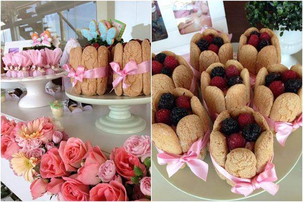 Cute lady fingers/berries dessert