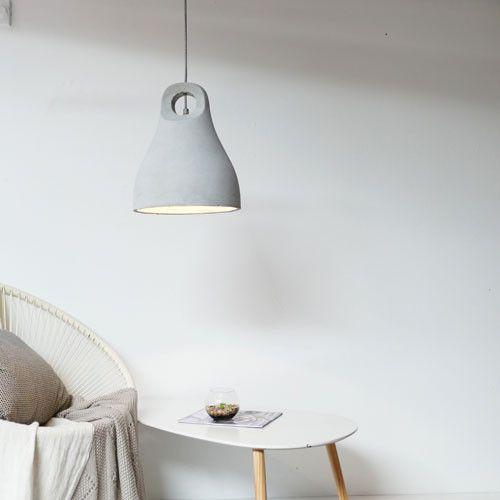 Concrete Bell Pendant Lights | Two Sizes - LightworksOnline
