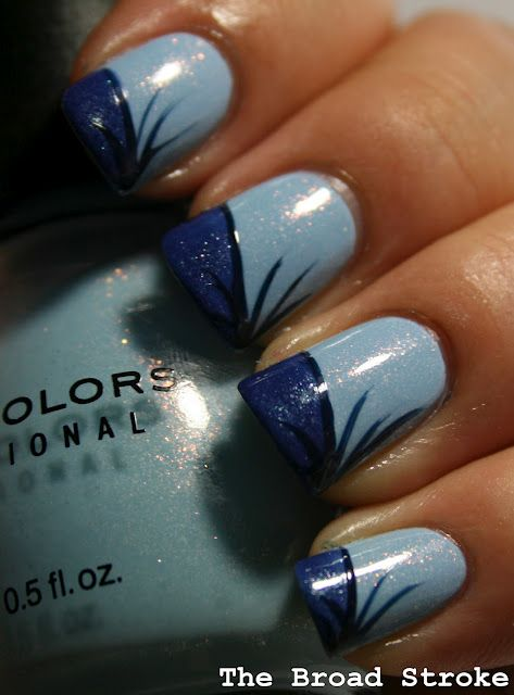 Blue and black design.