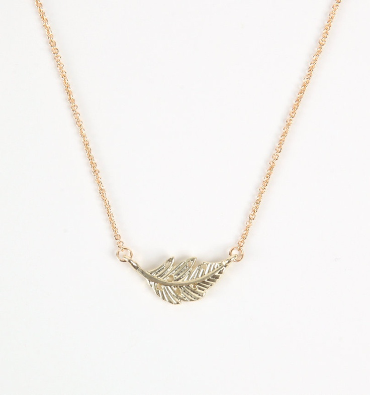 With Love from CA short feather necklace.  it's small, so it's cute. :)