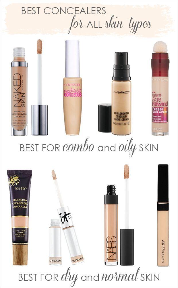 Best under-eye concealers for any skin type. Drug store and high end! #undereyeconcealer #makeup #concealer