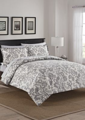 Marble Hill  Marble Hill Tanner Reversible 3-Piece Comforter Set - Gray - Queen