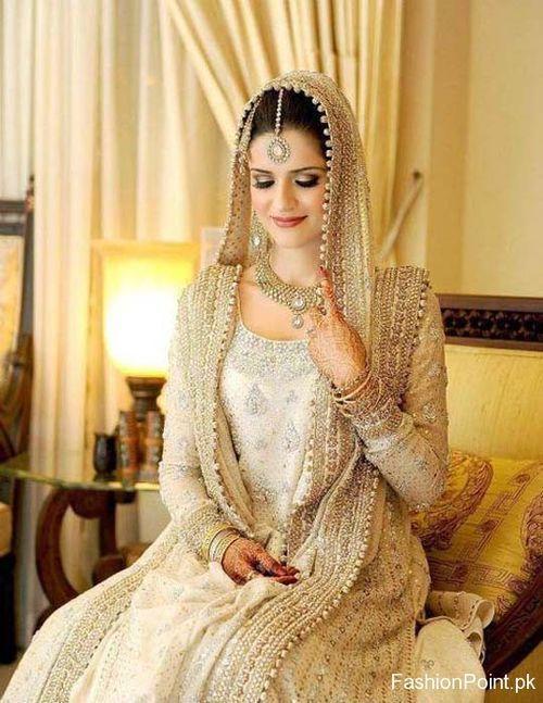 Gold indian wedding dress and asian wedding dress