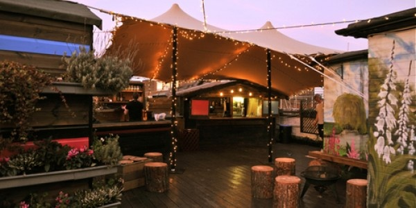 Rooftop at Queen of Hoxton, Shoreditch, London