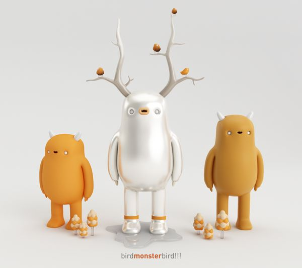 BIRD MONSTER!!! by AARON MARTINEZ, via Behance
