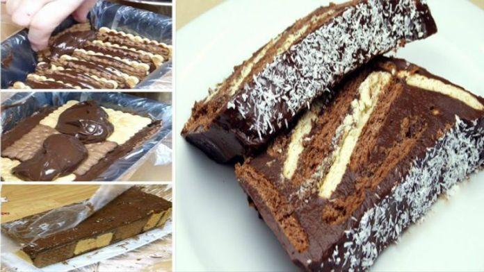 Krémový sušenkový dort s luxusní mléčnou náplní a fantastickou chutí!