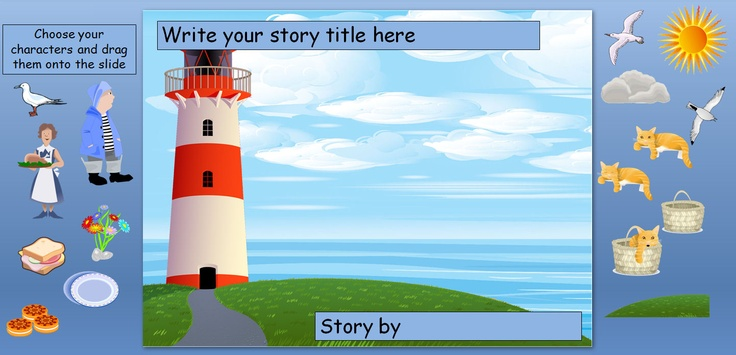 Storymaker PowerPoints: These PowerPoints can be used as part of a large group activity (by pupils at the IWB) or on individual computers. They do not include any artwork from the actual stories but specially designed clip art that will help support the retelling of the story.