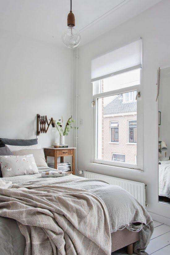 Beautiful Dutch bedroom make-over. Holly Marder. - This is just what I want. Peaceful, simple, beautiful.