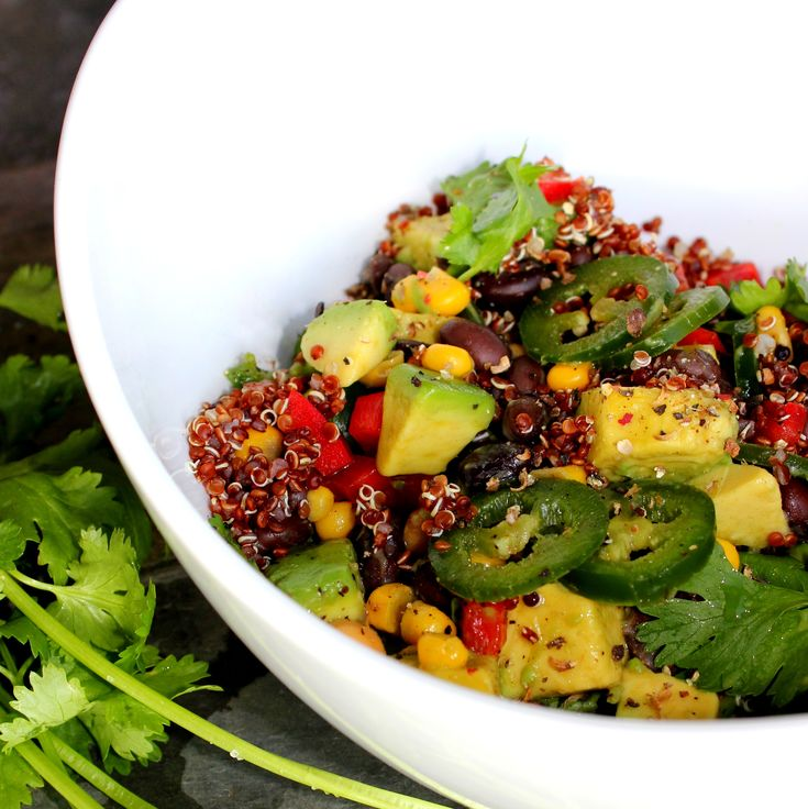 Chopped Southwest Avocado & Quinoa Salad. @ABachelorAndHisGrill