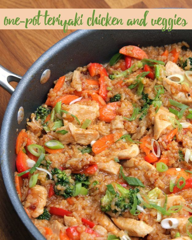 One-Pot Teriyaki Chicken And Rice | This One-Pot Teriyaki Chicken And Rice Is What You Need To Be Making Right Now