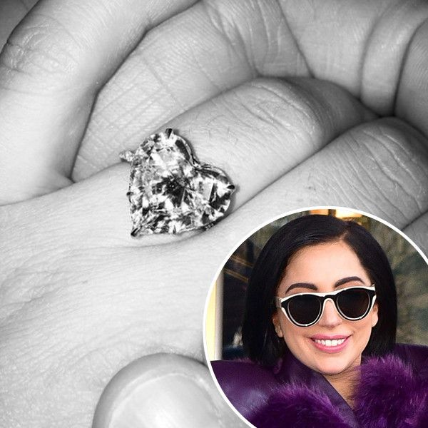 Here's Everything You Need to Know About Lady Gaga's Massive, Heart-Shaped Diamond Engagement Ring  Lady Gaga, Ring