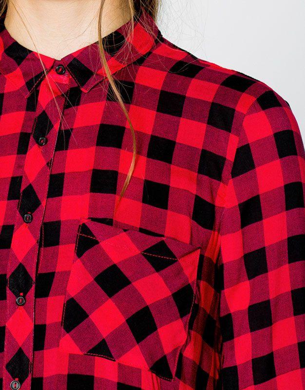 Gingham check shirt - Blouses & shirts - Clothing - Woman - PULL&BEAR United Kingdom