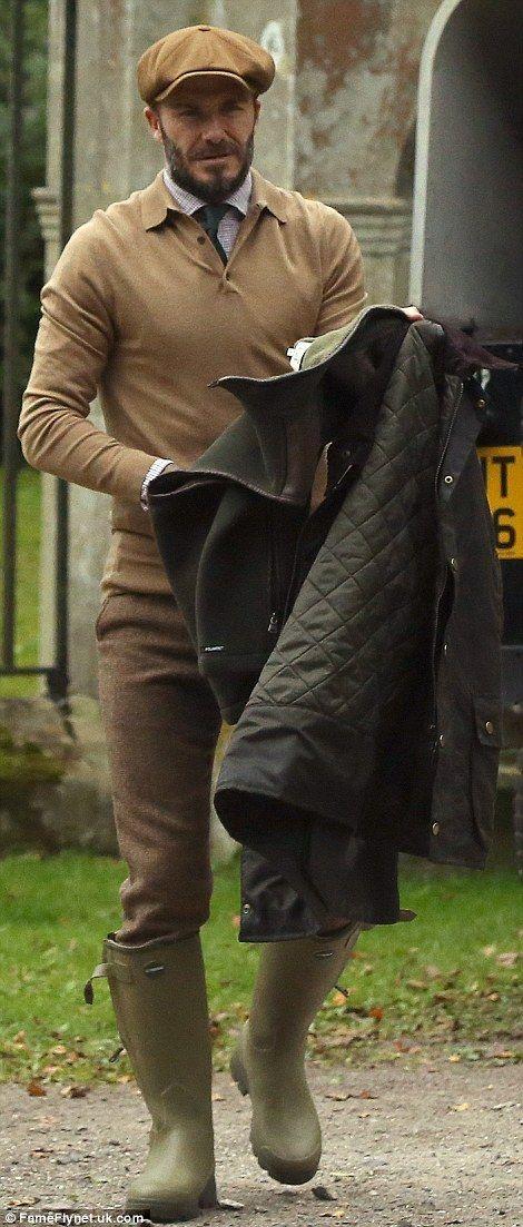 Big shot: David Beckham enjoyed a day of pheasant shooting on pal Guy Ritchie's Salisbury, Wiltshire, estate on Saturday