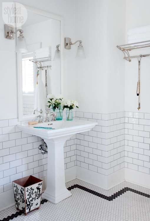 this versatile vintage classic is back in bathrooms everywhere rh pinterest com