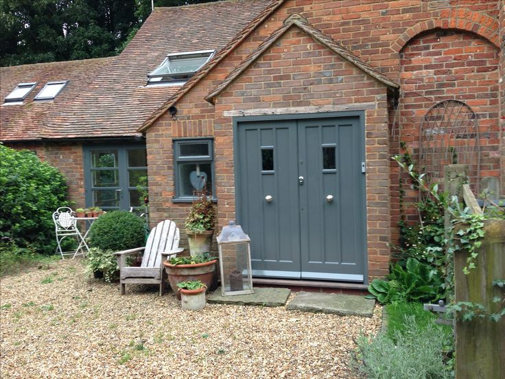 Our newly painted front door, down pipe grey by Farrow and Ball.....who thinks of these names?