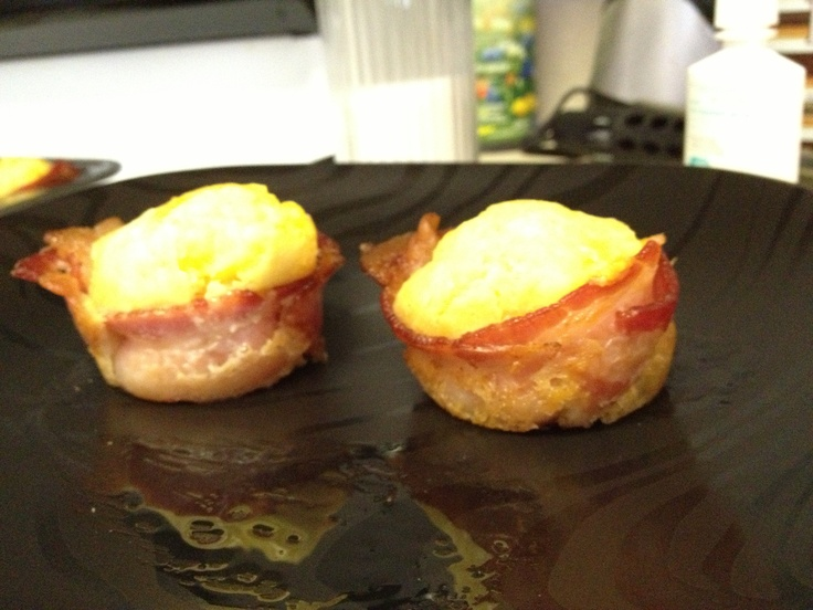 Got to try this bacon and egg recipe! I added sliced cube ...