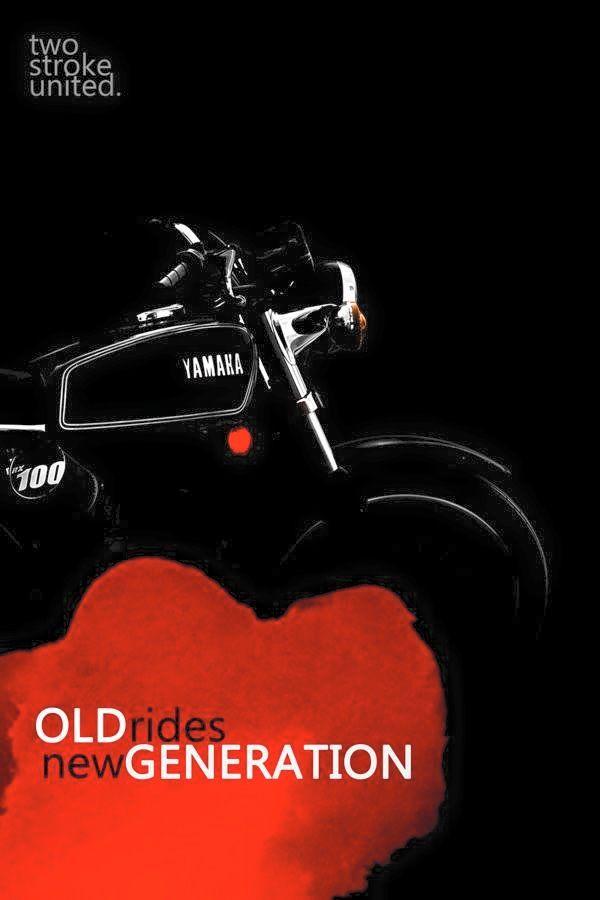 #twostrokeunited  Team Yamaha RX100  Arsh Nanray