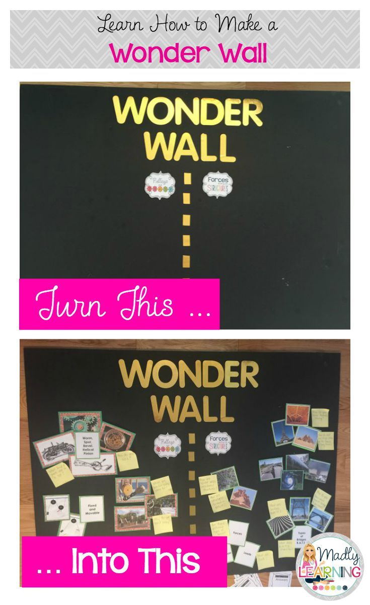 Watch how to make a Wonder Wall for your classroom. Start your Inquiry units by sparking interest in your topic through pictures, words and artifacts. Encourage student questions and use a Wonder Wall to show student learning.