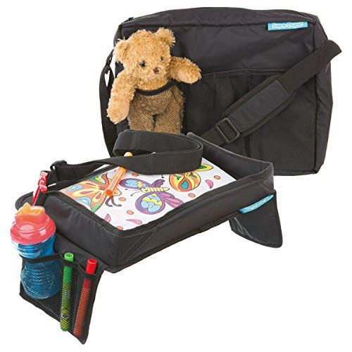 From 16.99 Children's Snack N Play Car Seat Travel Tray & Carry Bag Set By Supa-dupa! Kids Travel Play Tray Suitable For Most Kids & Toddler Carseats  (bonus Carry Bag)
