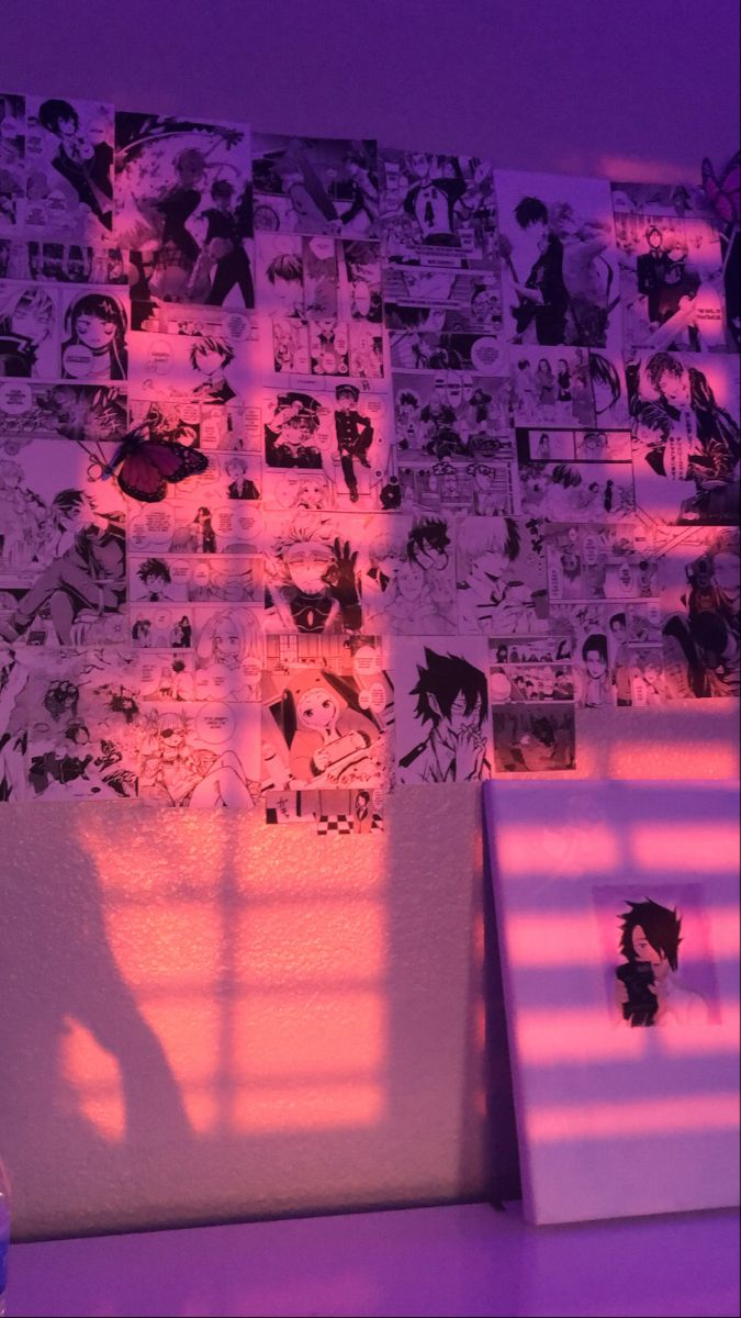 Manga Wall In 2020 Dreamy Room Otaku Room Gamer Room