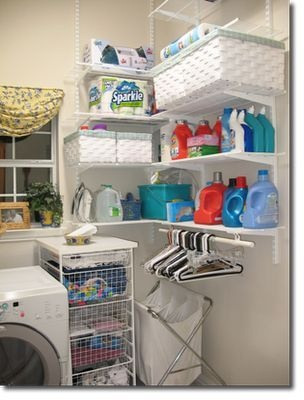 An organized and totally doable laundry room.