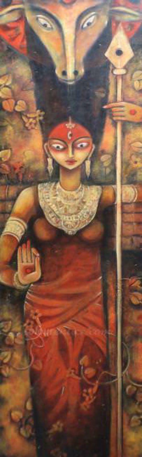 Buy Paintings Online by Artist Samar Basak - Gouri - CE101001